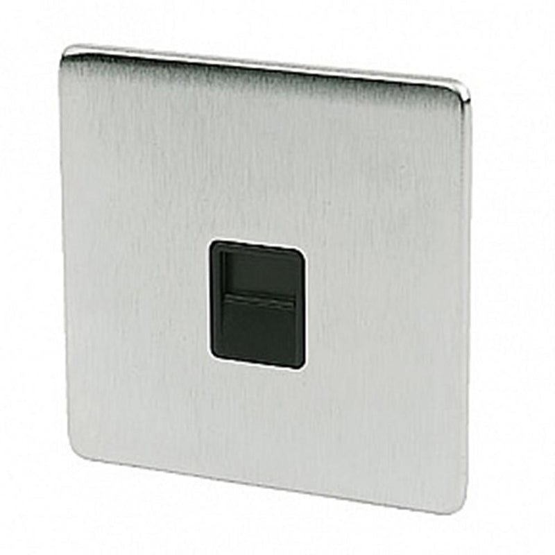 Crabtree Platinum 7784-SC Telephone Socket Master Satin Chrome - SND Electrical Ltd