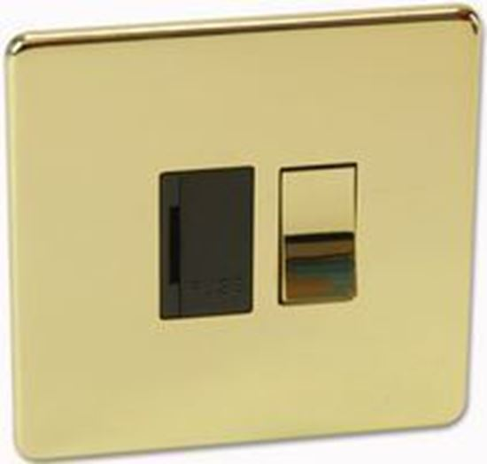 Crabtree Platinum 7832-PB Switched Spur Brass - SND Electrical Ltd