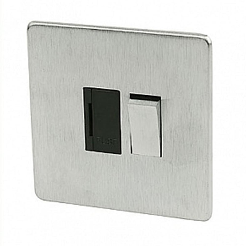 Crabtree Platinum 7832-SC Switched Spur Satin Chrome - SND Electrical Ltd