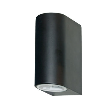 Searchlight 8008-2BK-LED Black Outdoor Wall Light