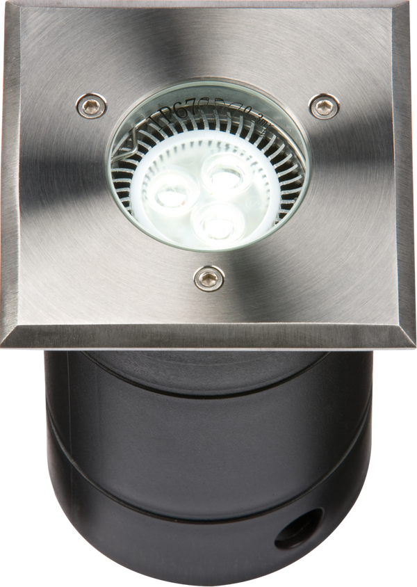 230V IP67 Square Stainless Steel Walkover/Driveover Light