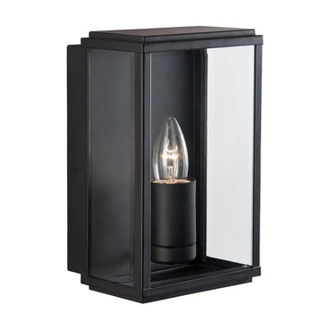 Searchlight 8204BK Black Rectangle Outdoor Wall Light
