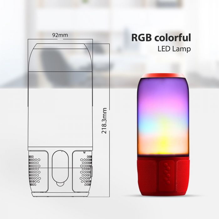Smart LED Light Up Bluetooth Wireless Speaker USB