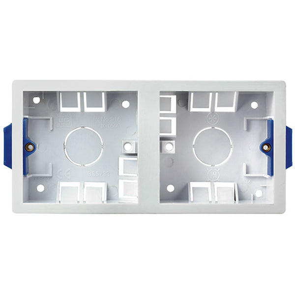 SND Electrical 916 Dual 35mm Dry Lining Box - SND Electrical Ltd