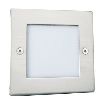 Searchlight 9907WH Ankle LED Recessed Light Square Chrome
