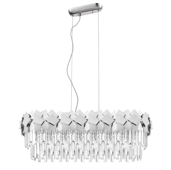 HCLBO609291FC Crystal Large Suspended Light - Chrome