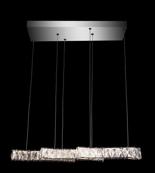 A1018 Khush Lighting Remote Colour Changing LED Triple Bar Pendant Chandelier - SND Electrical Ltd