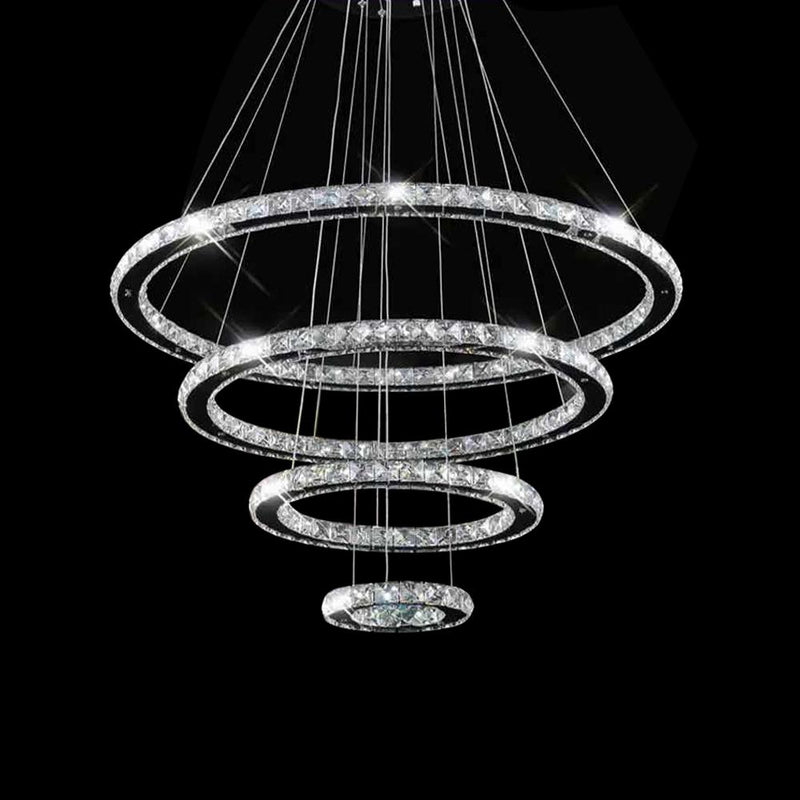 A1023 Khush Lighting Remote Colour Changing LED 4 Ring Suspended Chandelier - SND Electrical Ltd