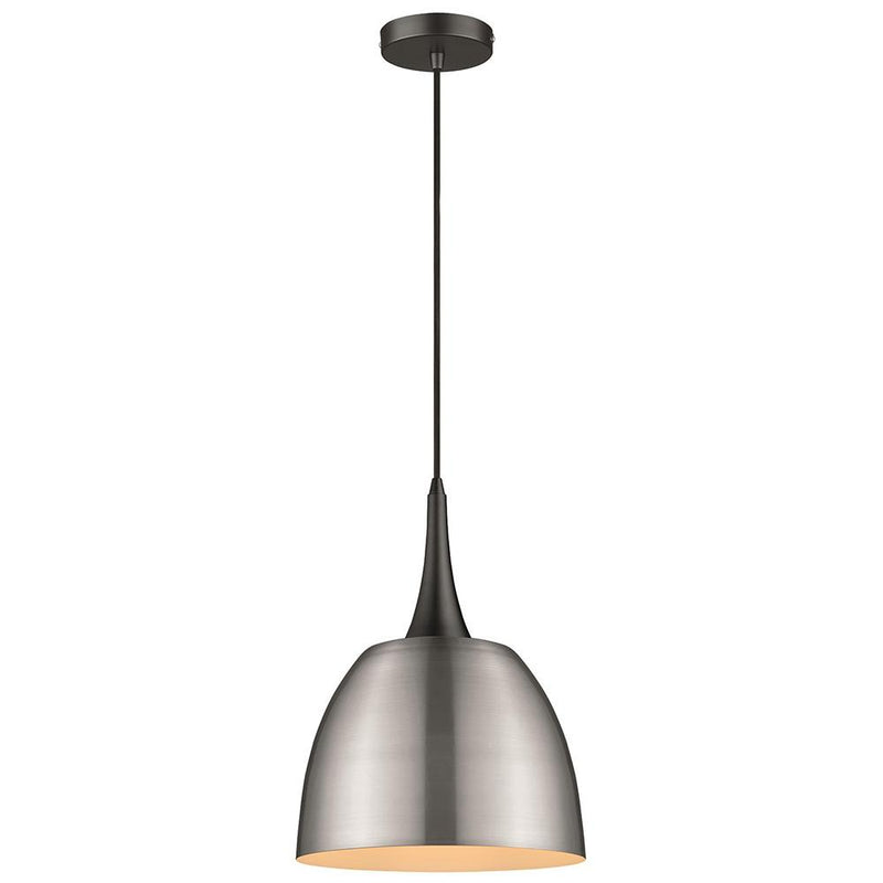 SND Lighting SND104 Aston Single Pendant Satin Nickel - SND Electrical Ltd