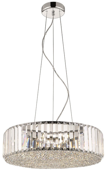 SND Lighting SND120 Bell Round Crystal Suspended Ceiling Light