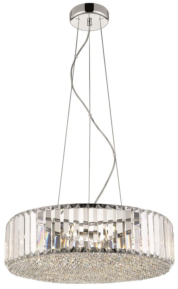 SND Lighting SND120 Bell Round Crystal Suspended Ceiling Light - SND Electrical Ltd