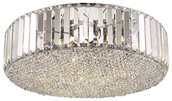 SND Lighting SND121 Bell Round Crystal Flush Light - SND Electrical Ltd