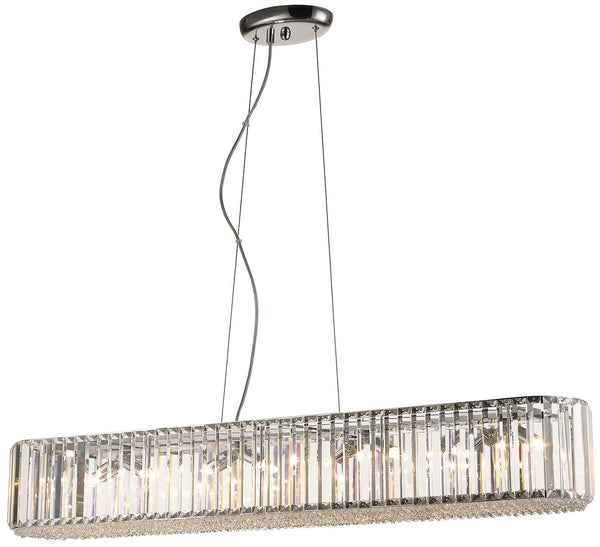 SND Lighting SND124 Bell Crystal Suspended Ceiling Light - Long - SND Electrical Ltd