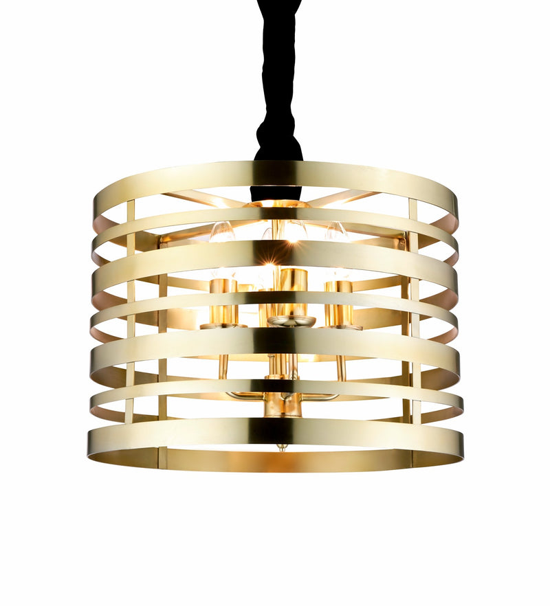 SND Lighting SND290 Bromley 3 Light Suspended Light Brass - SND Electrical Ltd