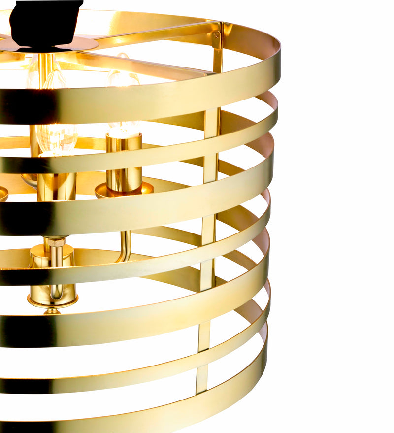 SND290 Bromley 3 Light Suspended Light Brass