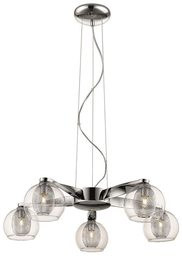 SND Lighting SND144 Cardiff 5 Light Multi Arm Light Chrome - SND Electrical Ltd