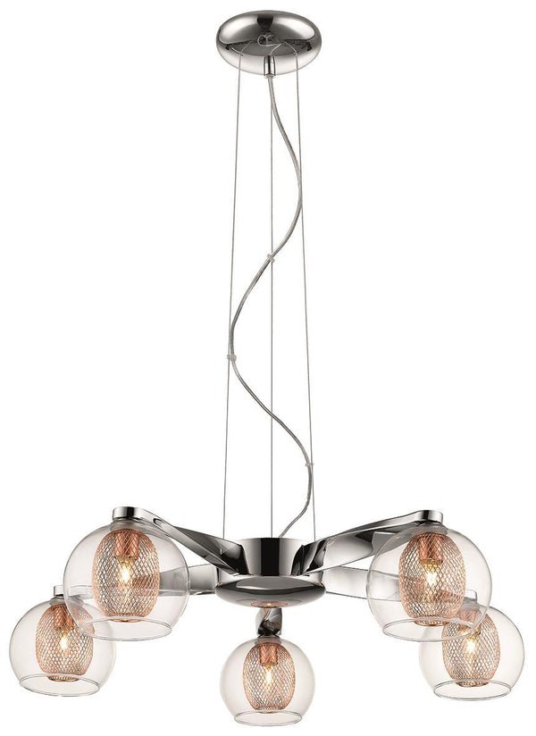 SND Lighting SND147 Cardiff 5 Light Flush Light Copper - SND Electrical Ltd