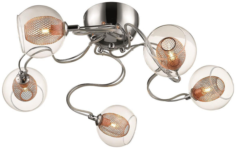 SND Lighting SND154 Cardiff 5 Light Flush Light Copper - SND Electrical Ltd