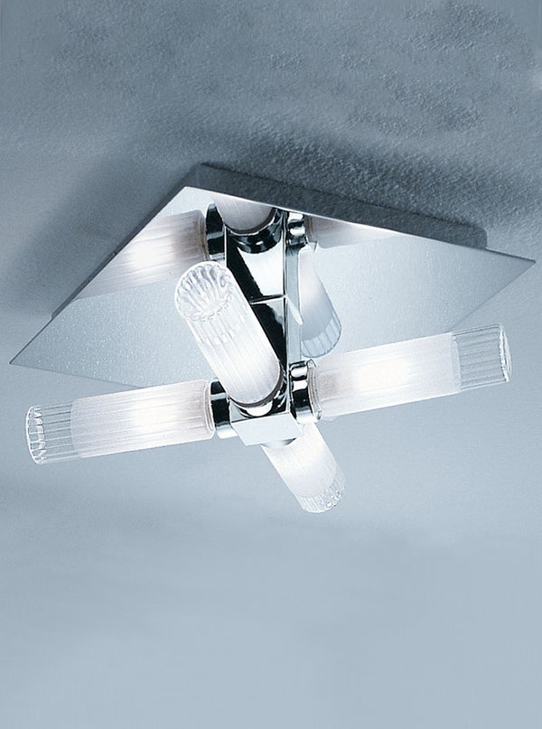 Franklite CF1286 240mm Square Flush Bathroom Light - SND Electrical Ltd