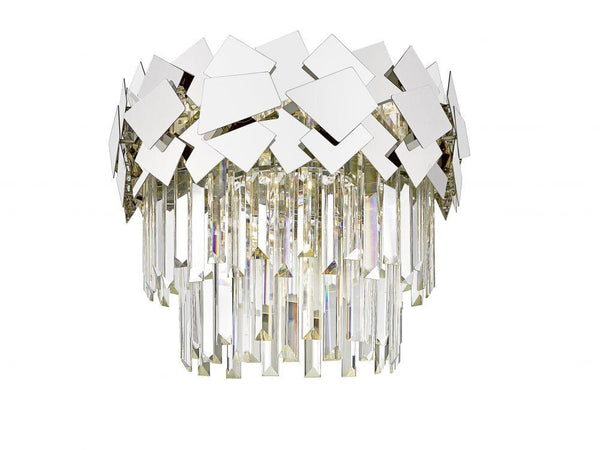 CHFS509291FC Crystal Flush Ceiling Light - Chrome