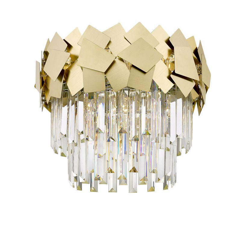 GFS509291FC Crystal Flush Ceiling Light - Matt Gold