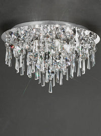 Franklite CF5720 500mm Flush Crystal Bathroom Light - (Large) - SND Electrical Ltd