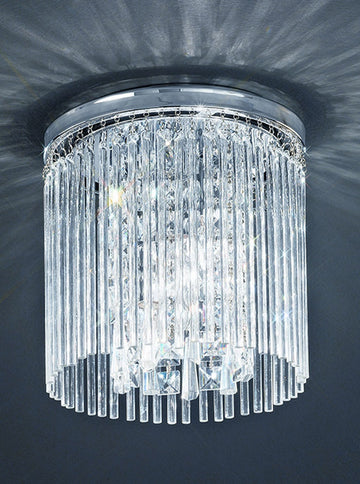 Franklite CF5726 250mm Flush Crystal Bathroom Light