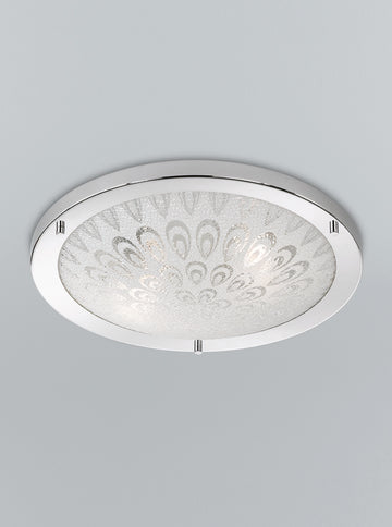 Franklite CF5751 400mm Circular Flush Bathroom Light (Large)