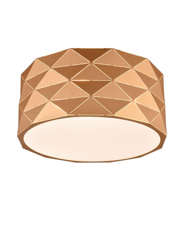 Franklite CF5769 Tangent Flush Ceiling Light (Rose Gold)