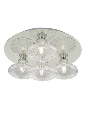 Franklite CF5777/989 Bathroom Ceiling Light (Clear Glass)