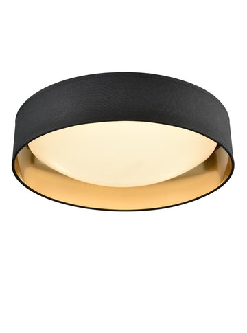 Franklite CF5785 Acrylic Ceiling Fitting with Black/Gold Shade
