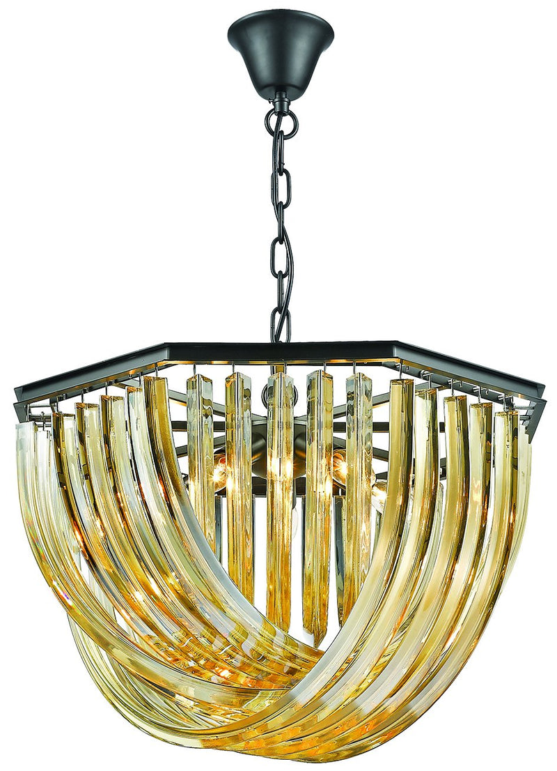 SND Lighting SND157 Cheltenham Crystal Suspended Light Gold - Polished - Short - SND Electrical Ltd