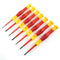 CK Tools T4897 7 Piece VDE Micro Precision Screwdriver Set Slotted & Phillips