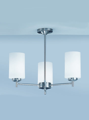 Franklite CO9303/727 Decima 3 Light Semi Flush Ceiling Fitting