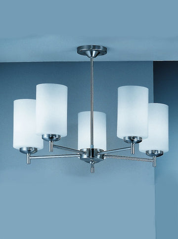Franklite CO9305/727 Decima 5 Light Semi Flush Ceiling Fitting