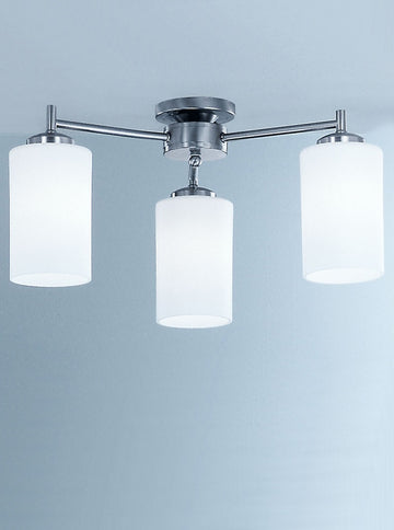 Franklite CO9313/727 Decima 3 Light Semi Flush Ceiling Fitting (Down)