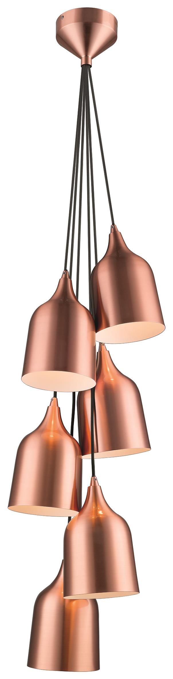 SND Lighting SND166 Craft 6 Light Multi Light Pendant Copper - SND Electrical Ltd