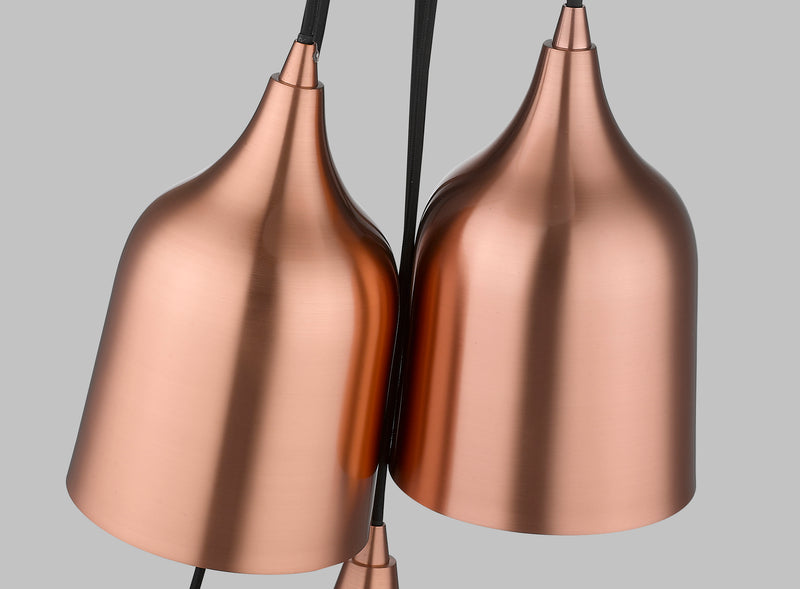 SND166 Craft 6 Light Multi Light Pendant Copper