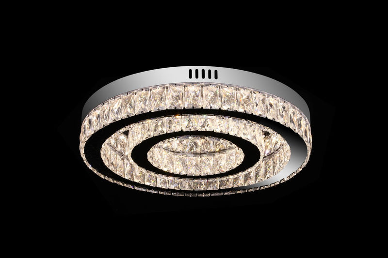 A2020 Khush Lighting Remote Colour Changing LED Double Ring Flush Chandelier - SND Electrical Ltd