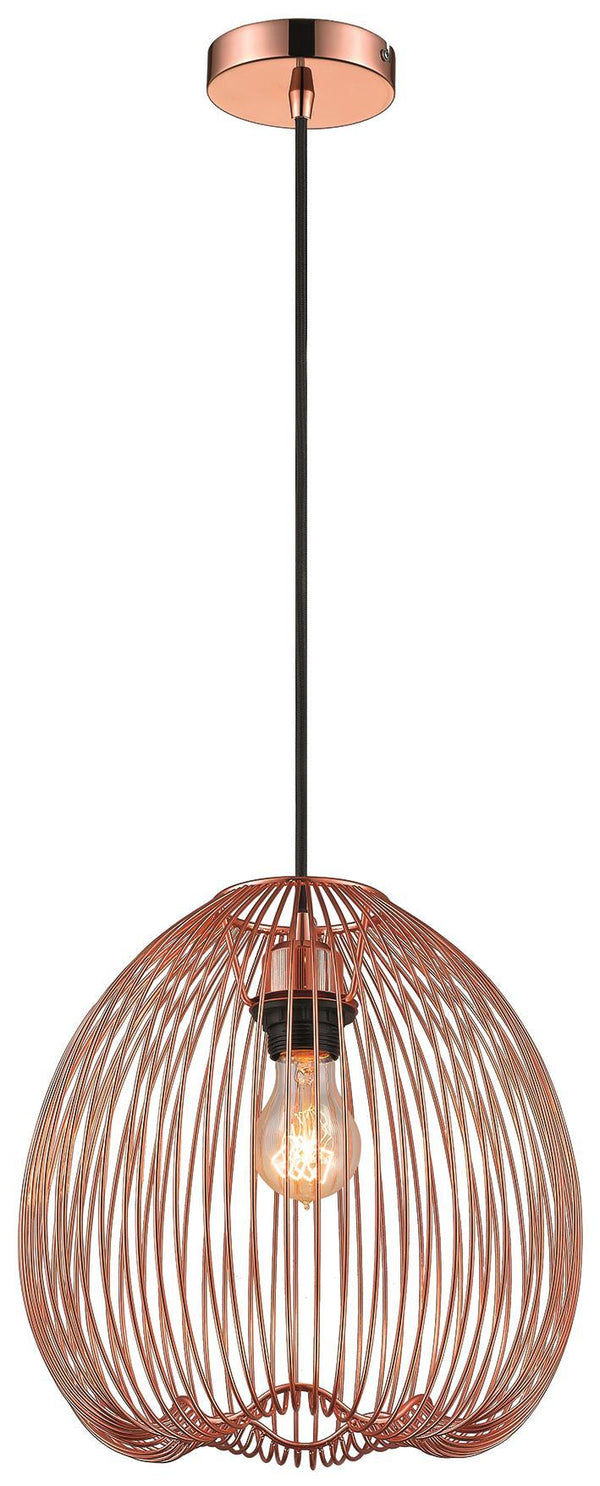 SND Lighting SND176 Dally Caged Single Pendant Copper - SND Electrical Ltd