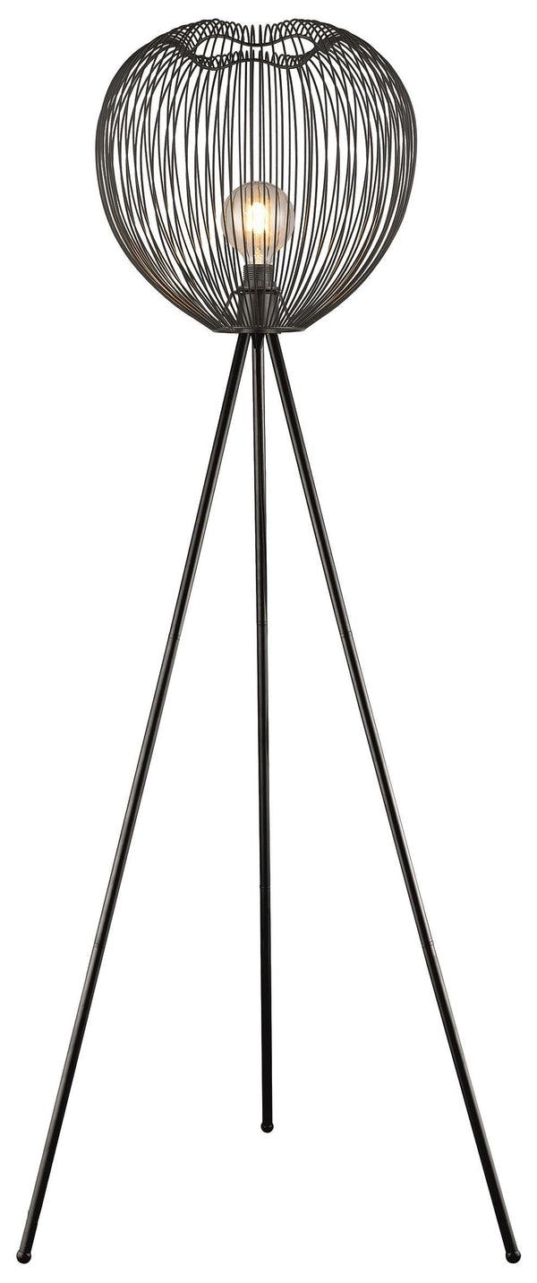 SND Lighting SND181 Dally Floor Lamp Matt Black - SND Electrical Ltd