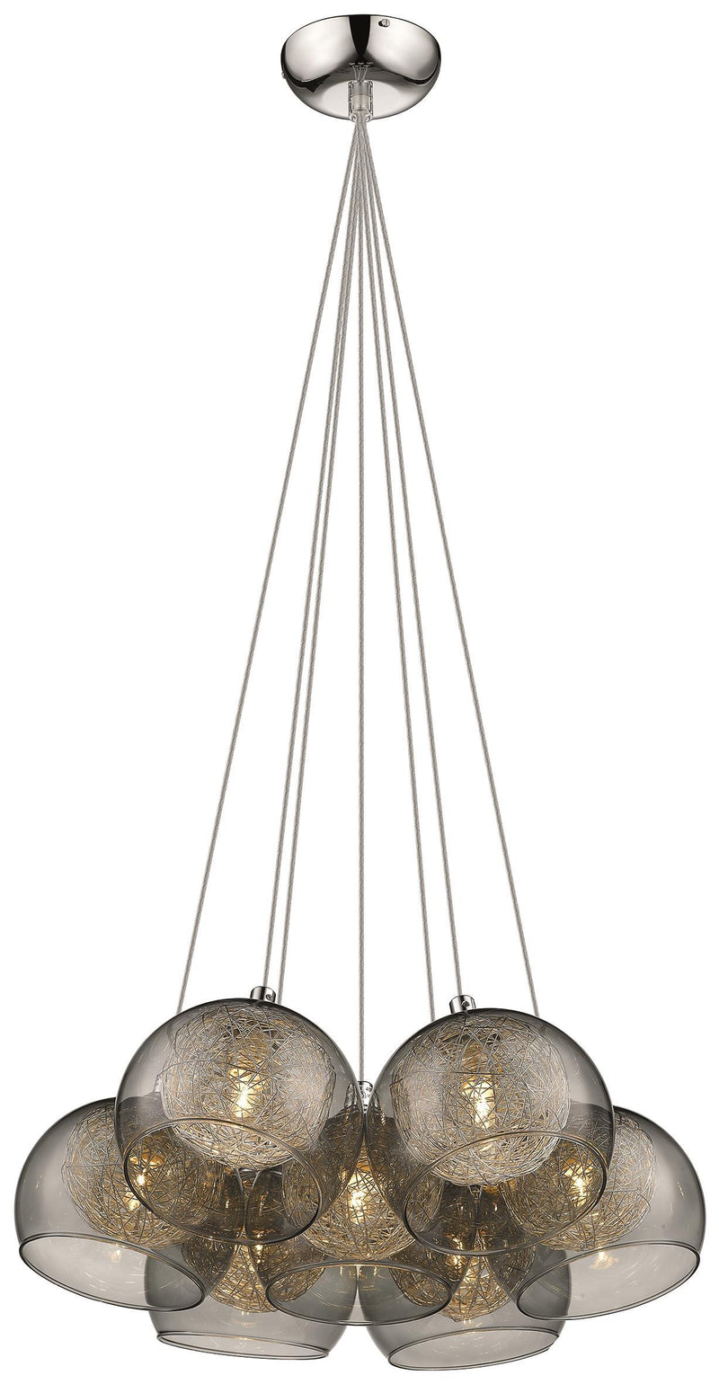 SND Lighting SND183 Eton 40cm Multi Light Pendant With Smoked Glass - SND Electrical Ltd