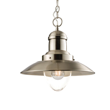 Endon 60799 Mendip Satin Nickel Single Pendant