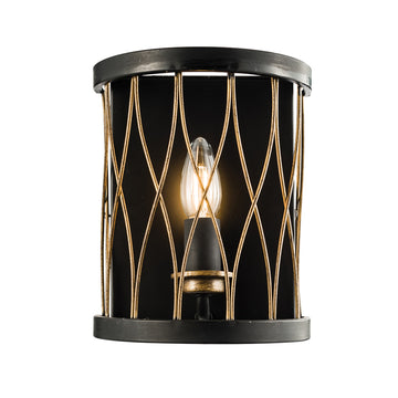 Endon 61499 Heston Matt Black Indoor Wall Light