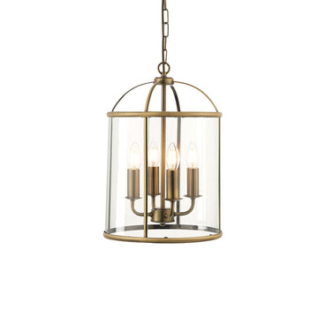 Endon 69455 Lambeth 4 Light Antique Brass Multi Arm Light