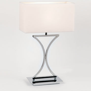 Endon 96930-TLCH Epalle Chrome Table Lamp With White Shade