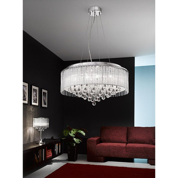 8/1612LF 8 Light Large Suspended Light
