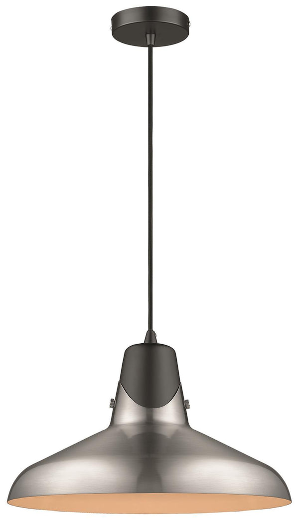 SND Lighting SND195 Harry Single Pendant Satin Nickel - SND Electrical Ltd