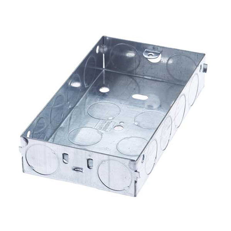SND Electrical 2G25 2 Gang 25mm Metal Box - SND Electrical Ltd