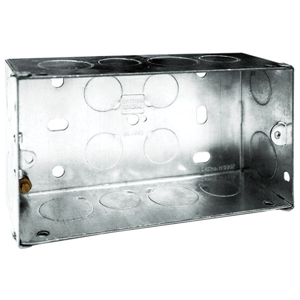 SND Electrical 2G35 2 Gang 35mm Metal Box - SND Electrical Ltd